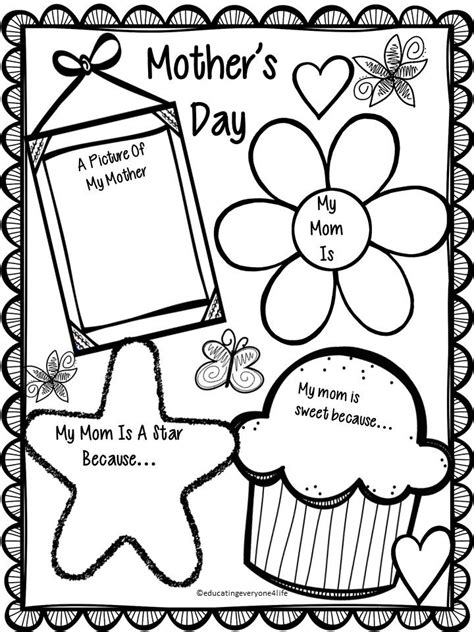 free mother s day activity happy mother s day students