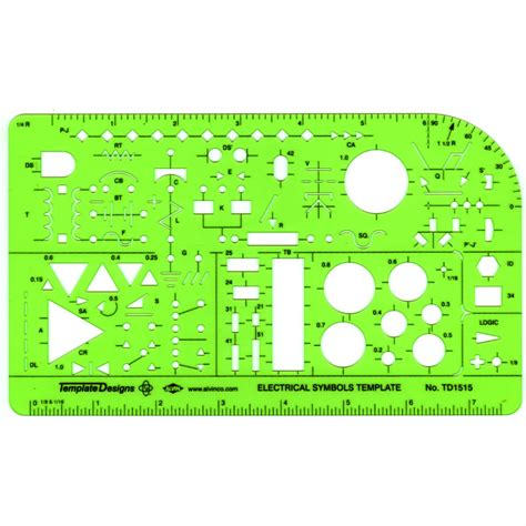 electrical drafting templates alvin electronic template td1515