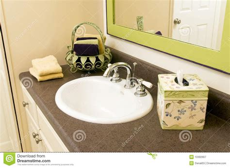 bathroom sink with accessories royalty free stock