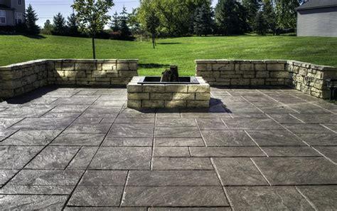 amazing backyard sted concrete patio ideas