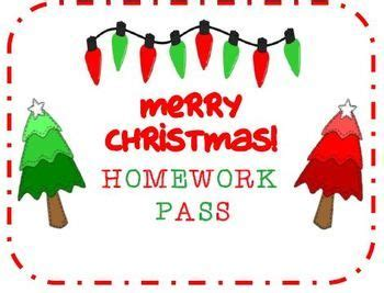 christmasholiday homework pass december teaching activities pinterest merry