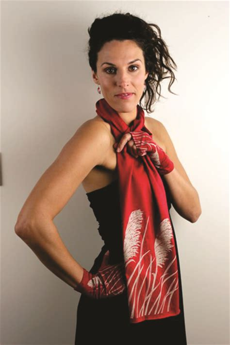 Wellington Pashmina Scarf Merino Wool Scarf With Toetoe Print By Nz