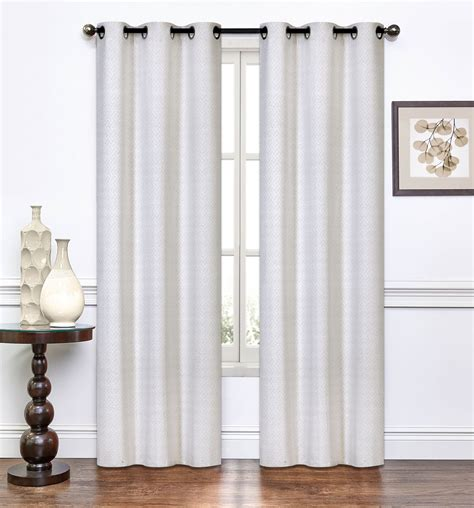 ivory curtain panels pair of suzette ivory window curtain panels w grommets