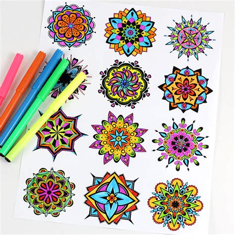 mandala coloring pages therapy free coloring pages of therapy mandalas