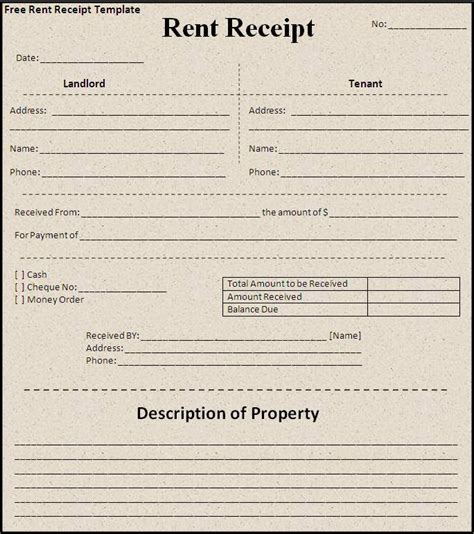 where can i use a rent receipt template receipt templates free word templates