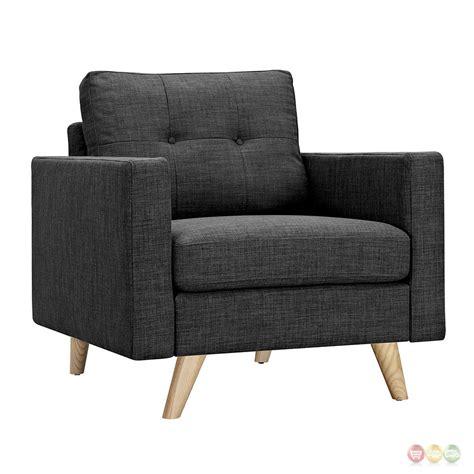tufted armchair uma modern dark grey fabric button tufted armchair with