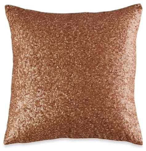 decorative pillows for bedroom vince camuto rose gold square toss pillow contemporary