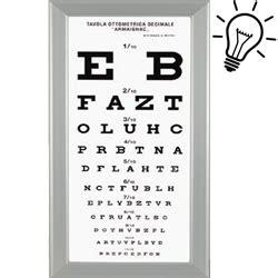 tavole optometriche ottotipo tavola optometrica armagnac ultrapiatta a led