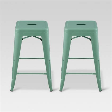 Carlisle Metal Bar Stool Set Of 2 by Carlisle 24 Quot Metal Counter Stool Set Of 2 Target