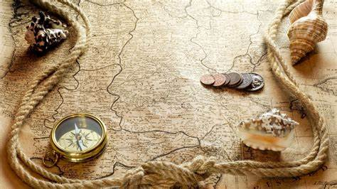 wallpaper money gold coins map pirates wallpapers style a e