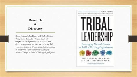 book summary tribal leadership leveraging natural groups to build 8 2 tribal leadership presentation