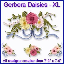Gerbera Designs Xl Messenger machine embroidery designs at embroidery library daisies