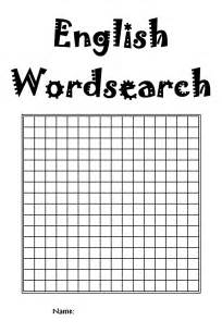 Word Sleuth Template by Printable Word Search Blank Template