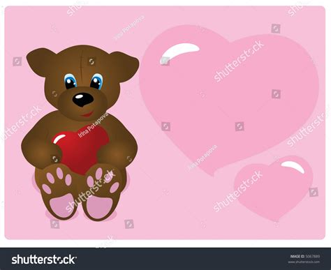 cute cartoon bears with hearts