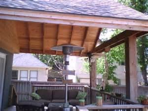 Patio Covers With Deck On Top 2b Gable Comp Shingle Cedar Framed Deck Cover Fences
