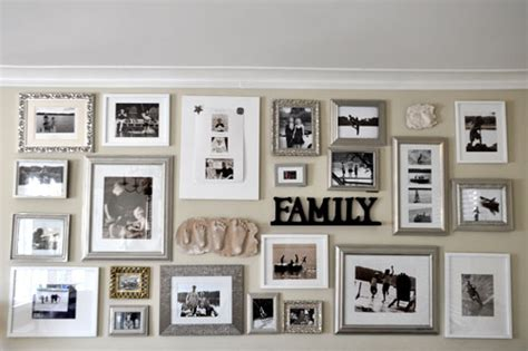 family photo gallery wall susiej creating a family photo wall the point of all