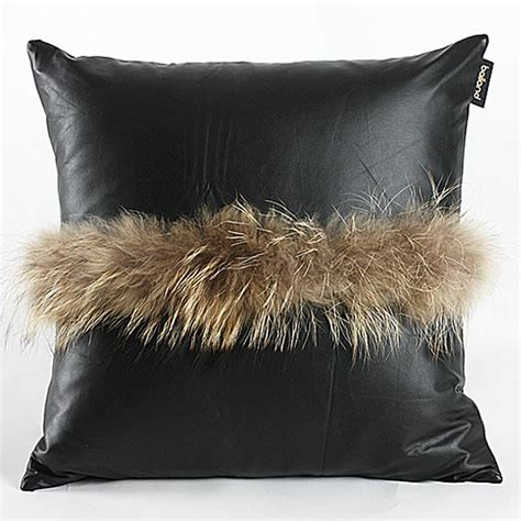 black throw pillows for sofa new enjoyable 18 18 quot cushion cover new pu leather woolen