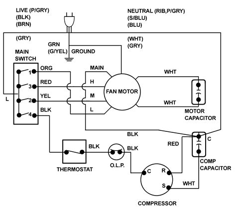 ac wiring diagram window air conditioner wiring diagrams