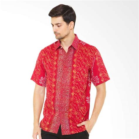 Batik Cap Gradasi Bunga Merah Jual Batik Agrapana Doby Cap Gradasi Darpa Baju Batik Pria
