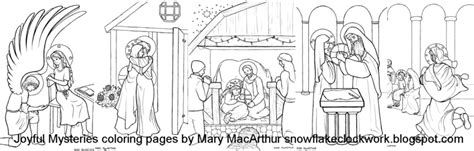 coloring pages of the joyful mysteries snowflake clockwork rosary mysteries coloring pages