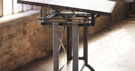 stand up drafting table stand up industrial drafting table desk by cosironworks