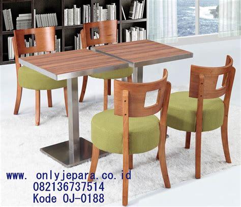 Kursi Cafe Stainless kursi meja cafe modern kayu trembesi rangka stainless