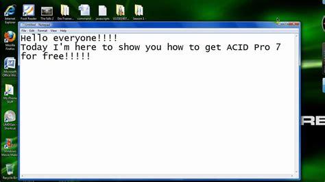 acid pro 4 0 serial number software download acid pro 7 free youtube