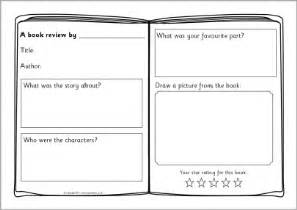 Writing A Book Template by Book Review Writing Frame Templates Sb4295 Sparklebox