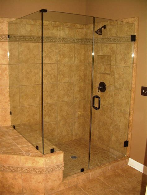 beige accents ceramic tiles wall for bathroom shower idea