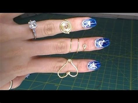 how to make wum jewelry diy wire rings part 1 spiral flat circle