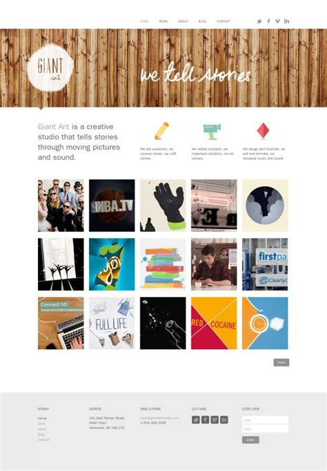 design inspiration stories giant ant we tell stories webdesign inspiration www