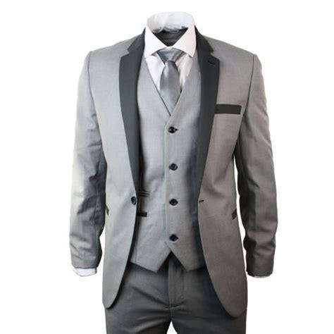 light charcoal grey suit mens 4 light grey suit charcoal trim slim fit