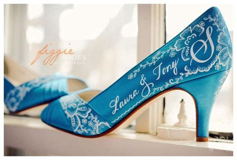 Turquoise Wedding Shoes by Colours Collection Turquoise Dotty Vintage Weddings