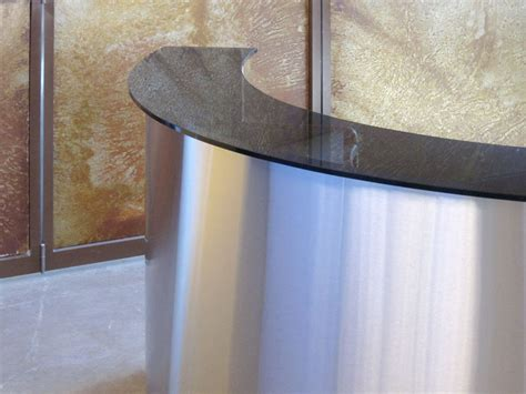 Stainless Steel Reception Desk Curving Stainless Steel Reception Desk Glendon