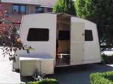carrello tenda rapido rapido folding caravan setup