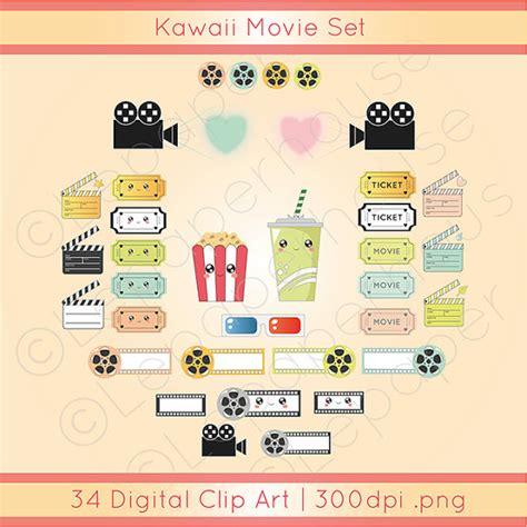 cute movie themes kawaii movies theme clipart cute digital scrapbooking