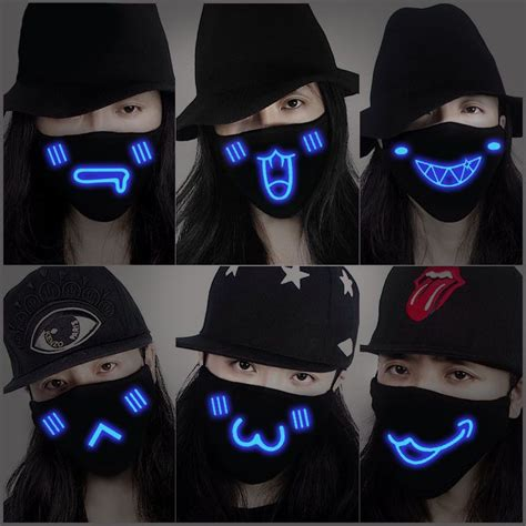 harajuku luminous mask se7403 m 225 scaras ropa y ne 243 n