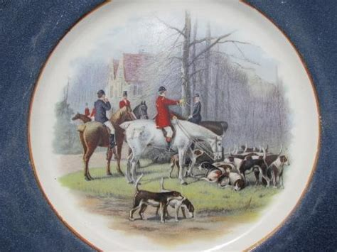 hunt country style hunt country style decorating plate with fox hunt