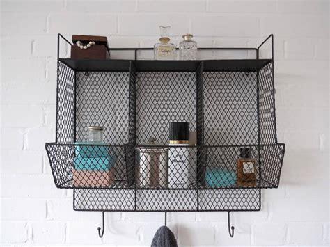 Industrial Storage Rack by Bathroom Metal Wire Wall Rack Shelving Display Shelf