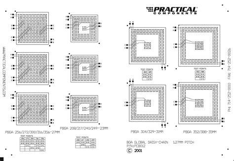 validation chain pattern pc012 bga global daisy chain test kit
