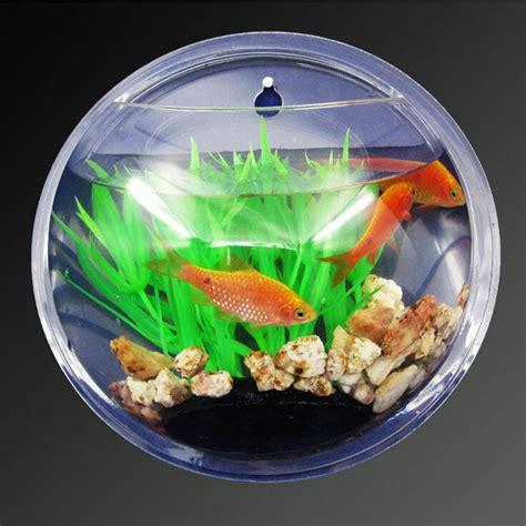 4pcs lot fish wall mounted bowl aquarium wall hanging tank