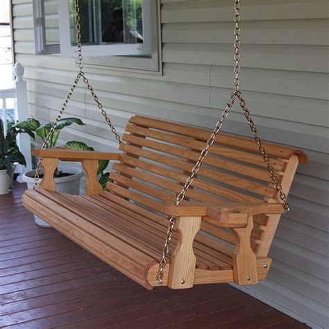 poarch swing centerville amish heavy duty 700 lb roll back wooden swing