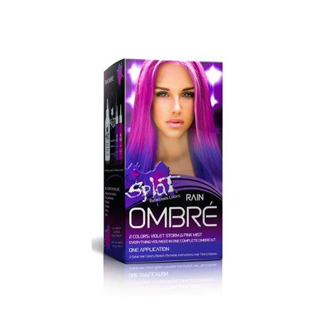 ombre hair color kit splat semi permanent bold ombr 233 hair color kit ombr 233