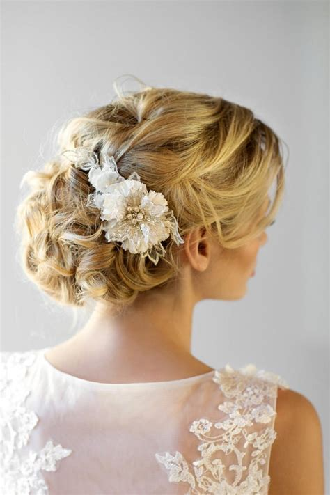 Wedding Flower Hair Comb bridal flower hair comb wedding headpiece bridal flower