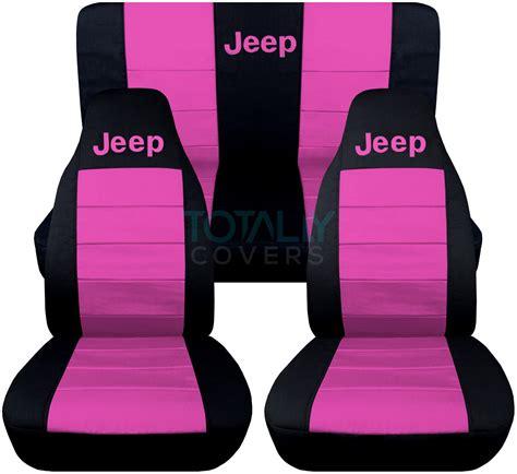 pink jeep grand cherokee jeep wrangler yj tj jk 1987 2017 2 tone seat covers w logo
