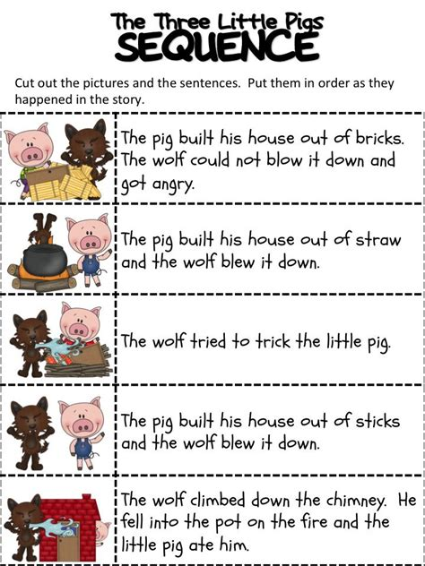 the haircut story pdf sequencing activities are great for building language and