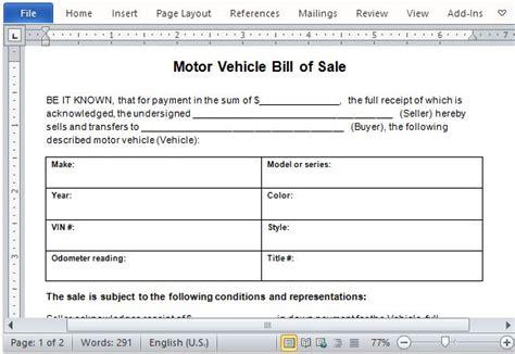 word 2007 bill of sales tunnelvisie