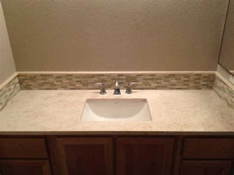 Travertine Bathroom Counter Top Contemporary Bathroom