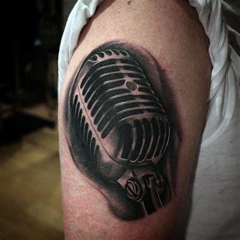microphone tattoo design 90 microphone designs for manly vocal ink