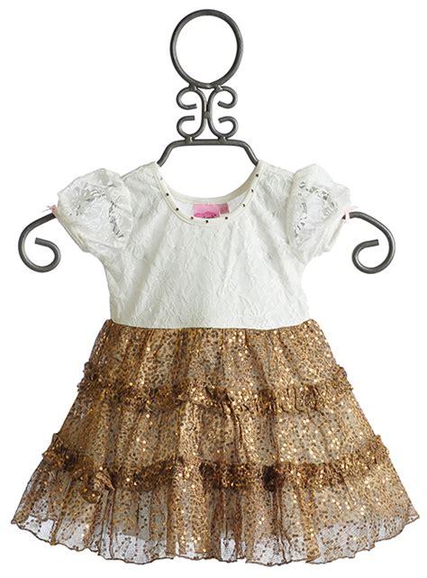 Lipstik Baby lipstik baby lace and gold ruffle dress